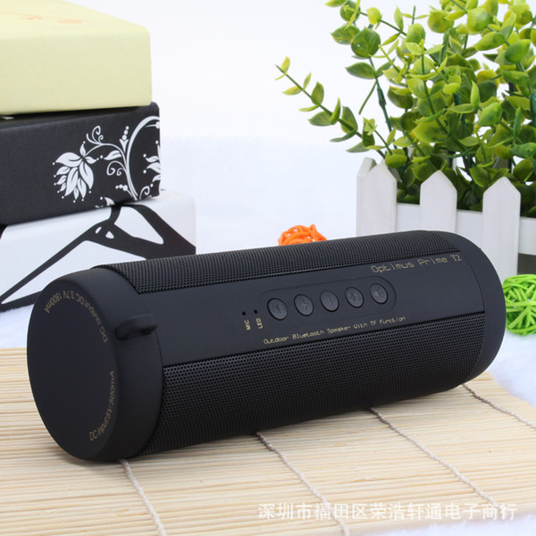 New Wireless Bluetooth Speaker T2 Outdoor Waterproof Bluetooth Affect Wireless Heavy Subwoofer Outdoor Portable TF Card Radio Speakers