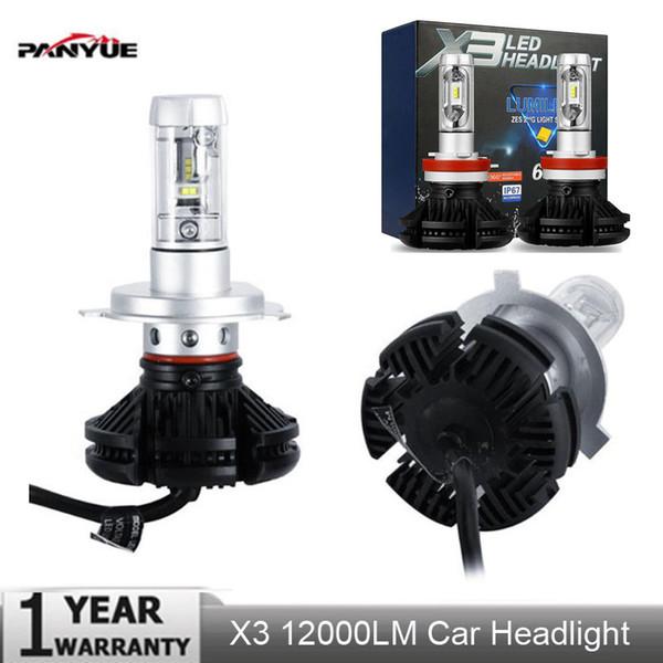 2PCs X3 ZES H4 H7 LED Ampoule de phare de voiture 3000K / 6500K / 8000K Jaune Blanc Glace Bleu Lampe H11 9005 9006 LED DRL Lumières de voiture
