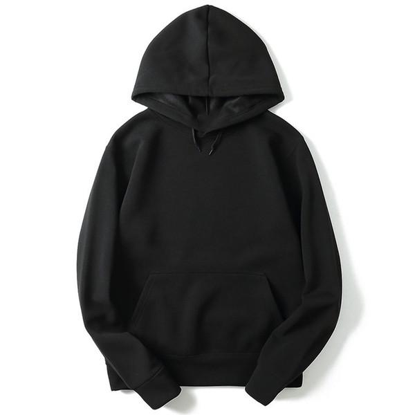 2018 New  High Quality Hoodie Streetwear Hip Hop Red Black Grey Hooded Hoody Men's Hoodie and Sweatshirt Size M-XXL