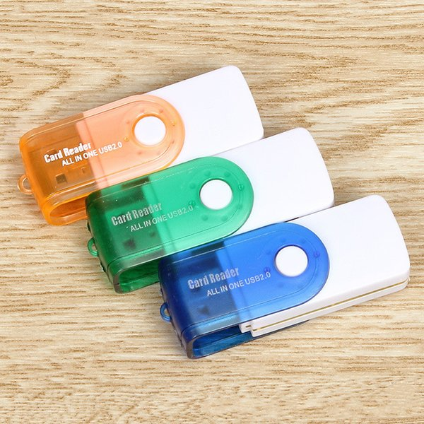 multi card in 1 USB 2.0 adapter connector micro SD TF M2 memory stick MS Duo RS-MMC memory reader