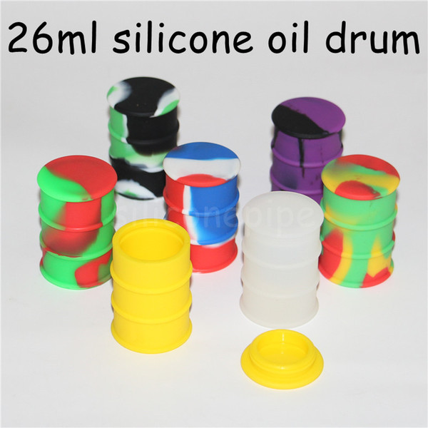 100pcs Silicone Wax Mats Square sheets pads mat barrel drum 26ml silicon oil container dabber tool for dry herb jars dab