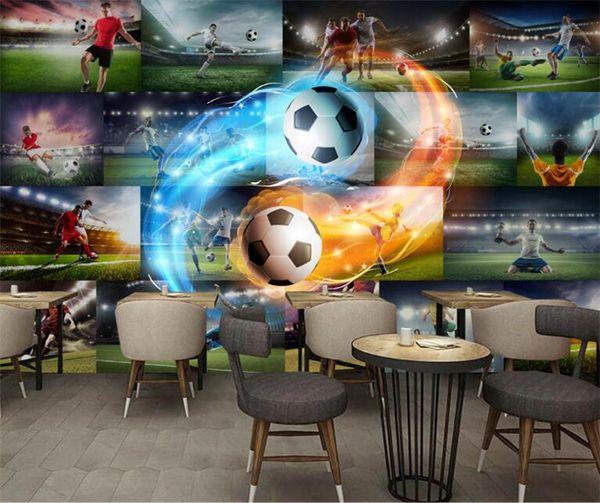 Grosshandel 3d Wallpaper Fur Walls 3d Fussball Flamme Foto Wall Paper Tv Hintergrund Malerei Wandbild Wallpapers Heimwerker Schmucken Von Fumei150716