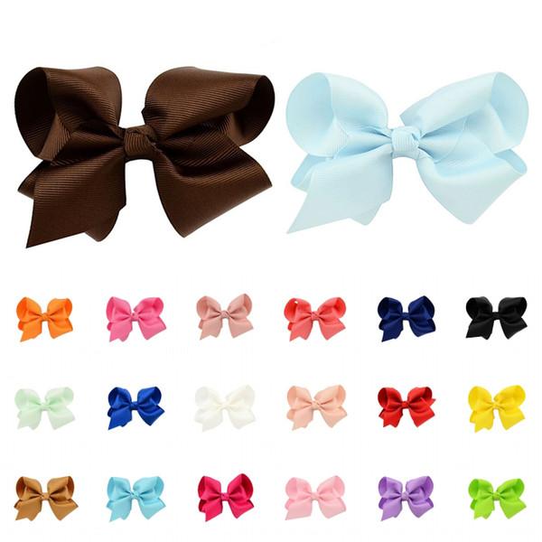 20 Colors Newborn Girls Hair Clips Ribbon Bow Kids Bowknot Hairpins Hair Accessories Support FBA Drop Shipping D491Q
