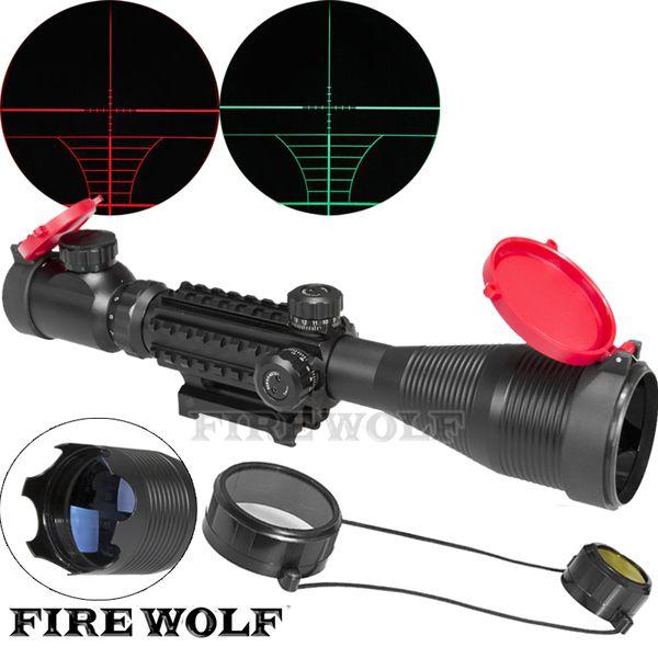 Comercio al por mayor 4-16x50 EG LLL Scopes Rifle Pistola de aire Riflescope Caza al aire libre Telescopio Mira Reflex SNIPER Scope Gun con cubierta roja
