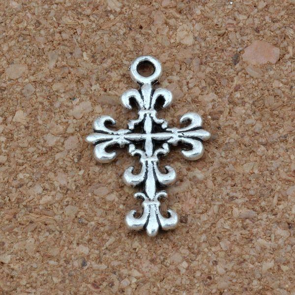 Telkari Çiçek Çapraz Charms Kolye 200 Adet / grup 14x23mm Antik Gümüş Moda Takı DIY Fit Bilezikler Kolye Küpe A-266