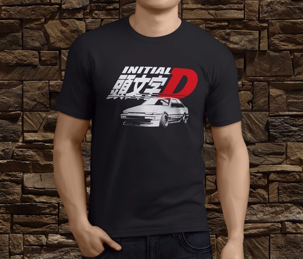 New Initial D AE 86 Anime Series Graphic CottonInitial Men's T-shirt Size S-3XL