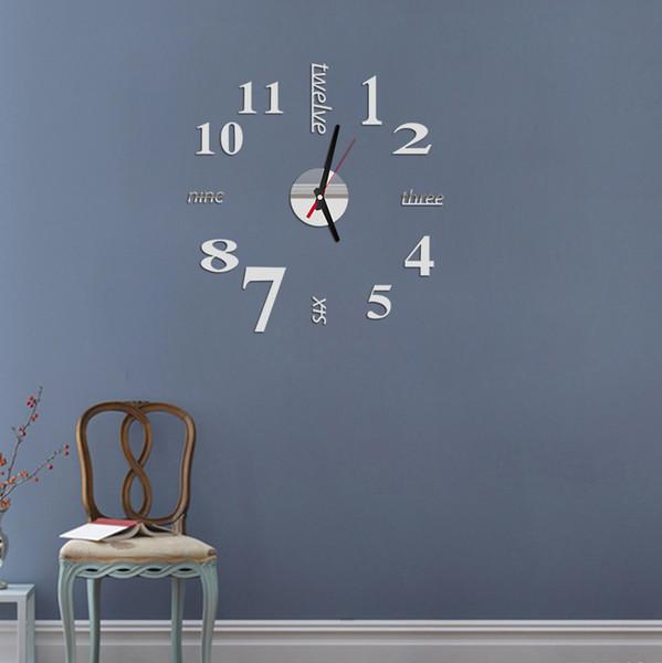 best selling Big Wall Clock Modern Design 3D DIY Large Decorative Wall Clocks Watch Wall Unique Gift