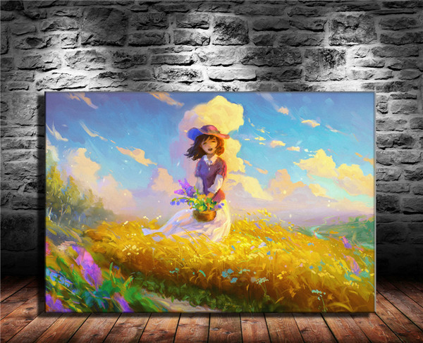 Cute Girl Art Painting