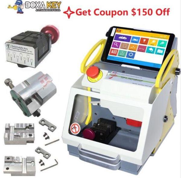 4 Abrazadera 2019 DHL Free Auto Locksmith Tool SEC E9 CNC Máquina de corte de llaves automática igual que Miracle A9 Tecla de corte Multi idioma