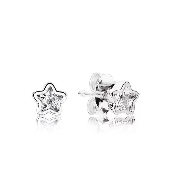 Estrella de Corea del Sur Pendientes simétricos Pendientes Temperamento Personalidad Clip de oreja simple Clavo de oreja Chica estudiante simple y refrescante.
