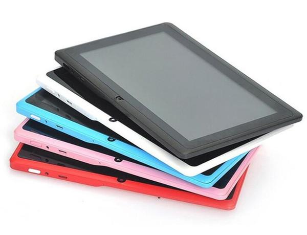 Dual Camera Q88 100X A33 Quad Core Tablet PC 7 pollici 512 MB 8 GB Android 4.4 kitkat Wifi Allwinner Colorato MID più economico C-7PB
