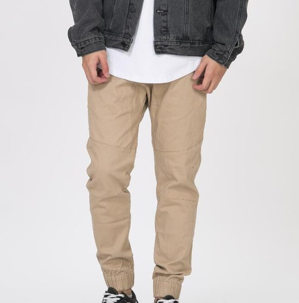 New hip hop fashion Black/Green/blue/ khaki side harem pants men jogger mens jumpsuit club wear chinos pants M-XXL