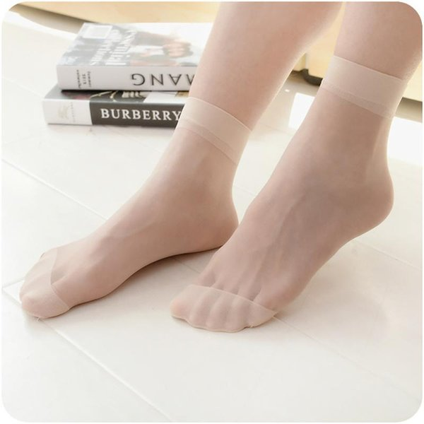 10pairs Women's Casual Thin Socks Sexy Breathable Transparent Short Stock for female