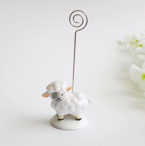 Güzel bebek koyun yer kart tutucu Güzel reçine mesaj notu klip Doğum Günü ve düğün parti dekorasyon yanadır