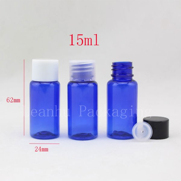 15ml X 100 blue small plastic empty cosmetic bottles ,essential oil bottles,hotel bottles ,DIY travel size personal care bottles
