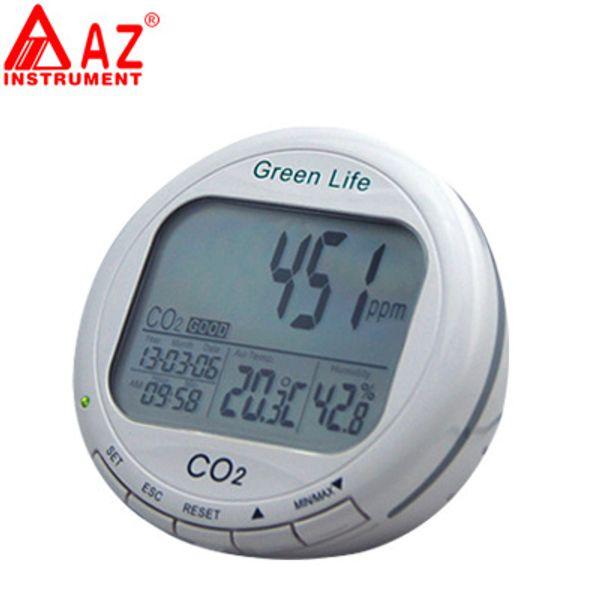 Analyseur de CO2 de CO2 de moniteur de dioxyde de carbone de bureau de Digital de moniteur de qualité de l'air d'intérieur 0-9999ppm AZ-7798