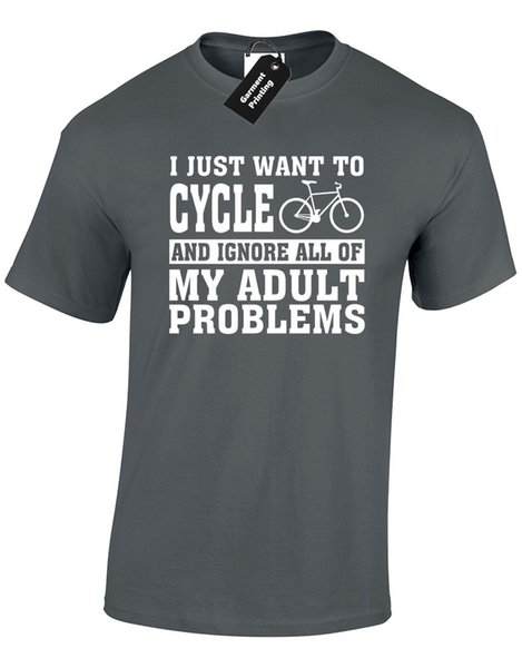 I JUST WANT TO CYCLE MENS T SHIRT EXERCISE FITNESS BIKE BICYCLE CYCOLOGYST NEW