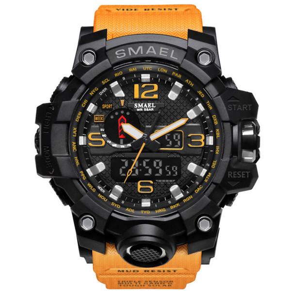 2018 Yeni Lüks Erkekler Dijital İzle Serin Aydınlık Elektronik Saatler Spor Plastik Kuvars Saatı Moda Mens Saatler Toptan