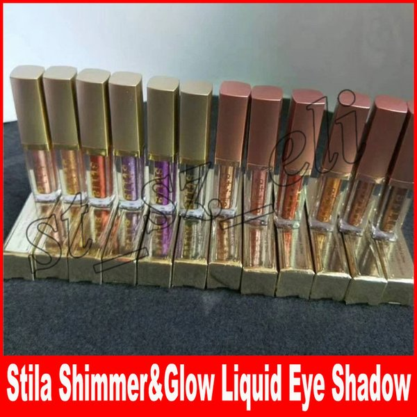 Makeup HOT Liquid eyeshadow Stila Shimmer / Glitter & Glow 12 colors 4.5ml Liquid Eye shadow free shipping