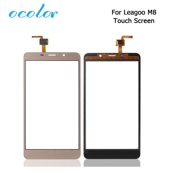 Digitador da tela ocolor para leaagoo 8 8 pro tela sensível ao toque painel de toque peças de reparo perfeito para leagoo m8 m8 pro digitador do telefone