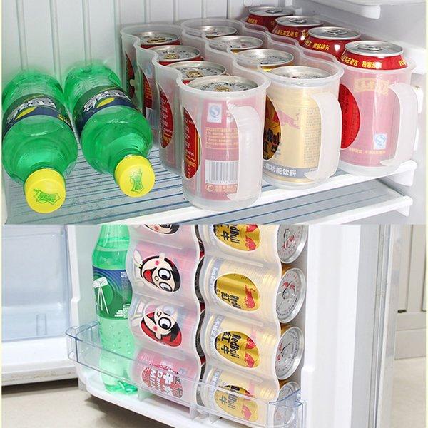 Bira Soda Can Saklama Kutusu Mutfak Dolabı İçecek Şişe Tutucu Buzdolabı Soğutma Organizatör Bira Kok İçecek Saklama Kutusu