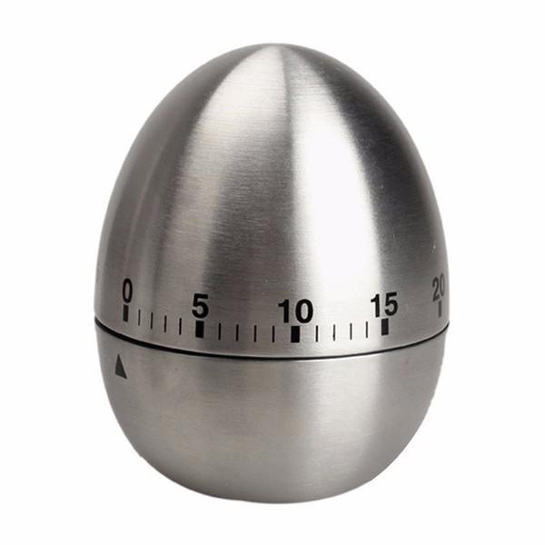 40 pcs Ovo Mecânico Cozinha Cozinhar Temporizador Contagem Regressiva 60 Minutos de Alarme De Aço Inoxidável Cozinha Ferramenta Ovo Cozinha Temporizador