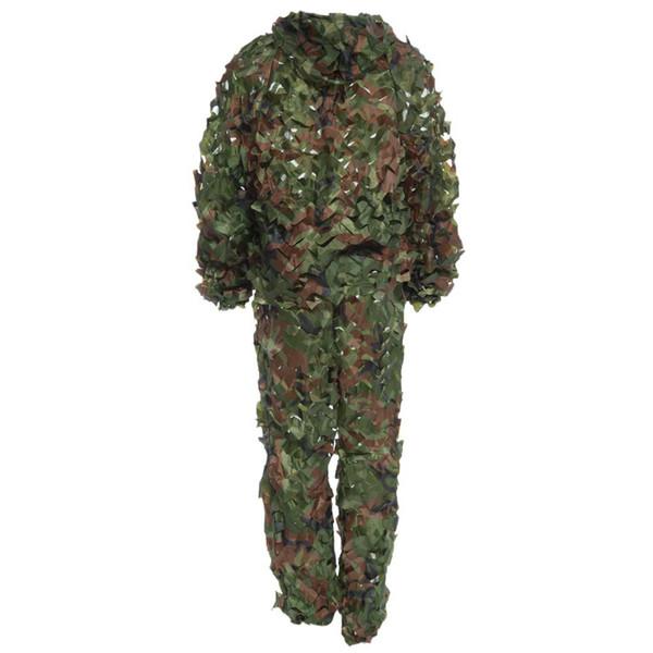 2016 Newest Lifelike Hunting 3D Tactical Camo Leaf Camouflage Suits Ghillie Bionic Training Suit Set CS Savage Kit Storage
