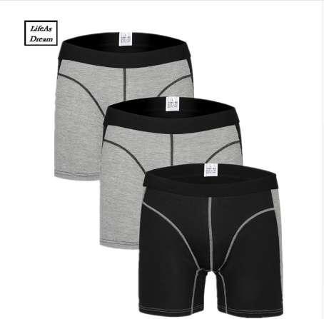Cuecas Calzoncillos 3pcs/lot Men's Boxer Underwear Pants Cotton Men Shorts Loose Calecon Pour Homme Mens Boxers Long Leg