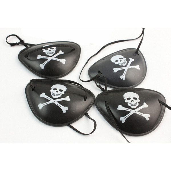 Costume Plastic Pirate Eye Patch Black Party Favors Bag Skull Crossbone Halloween Birthday Kids Toy Party Supplies 10pcs/set