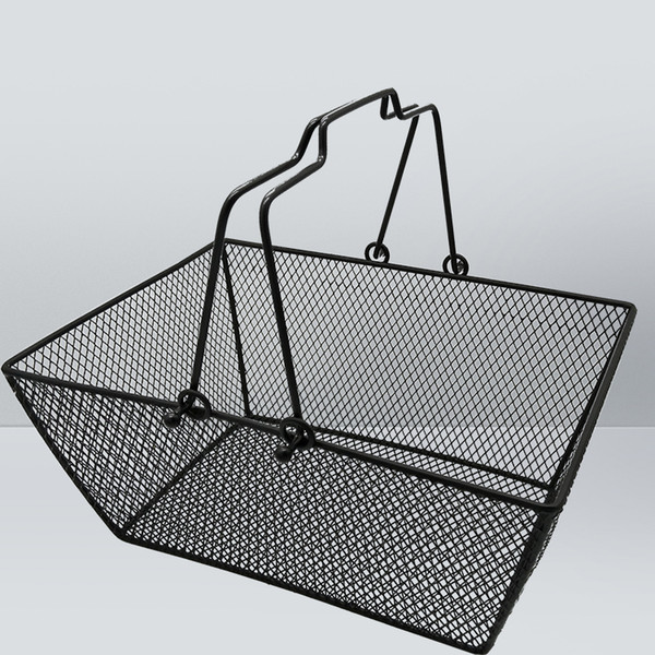 best selling metal mesh shopping basket for grocery, cosmetics, baby clothes, picnic with handle