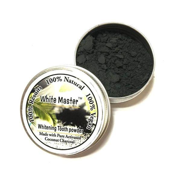 Polvo de carbón activado natural que blanquea los dientes Fuerte fórmula de higiene oral Polvo de dientes de limpieza