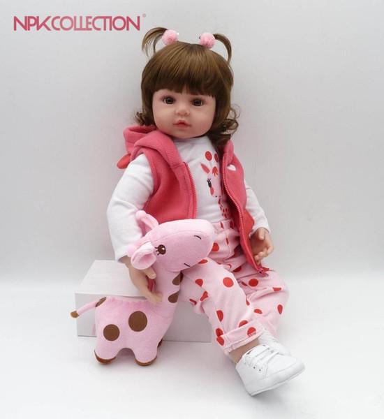 NPKCOLLECTION 48cm boneca reborn silicone reborn baby dolls avec cadeau de noel anniversaire bébé cadeau de noel