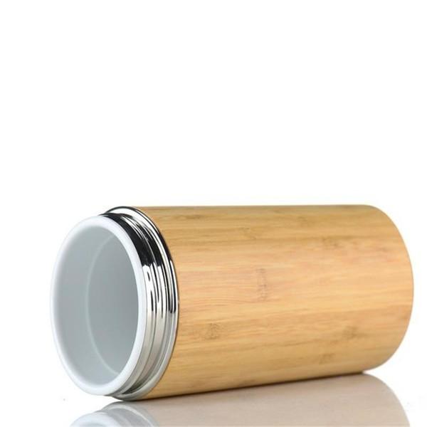 Garrafas De Água De Bambu Prático Com Isolamento A Vácuo Com Filtro De Chá De Aço Inoxidável Dupla Camada De Isolamento Chaleira High End 30jn cc