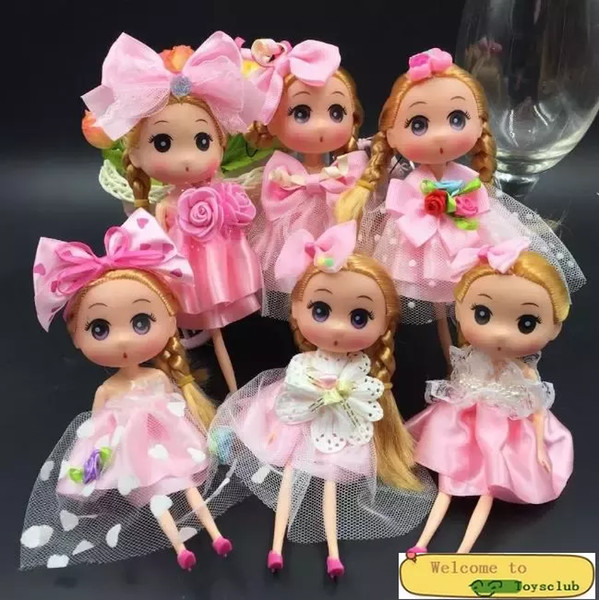 top popular Princess Wedding Doll Backpack Keychain Keyring Pendants Charm Toy throw favors Children Kids Gifts baby dolls 18cm 2020