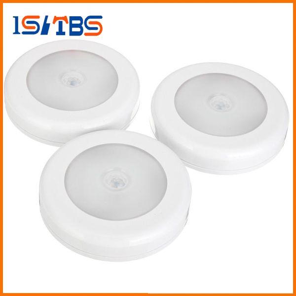 6 LED infrarrojos IR del sensor de movimiento brillante activado las luces de pared LED luz de la noche encendido / apagado automático con pilas de Pasillo