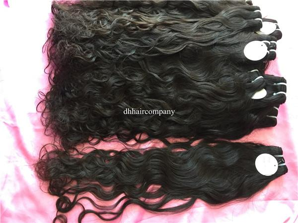 Brazilian Virgin Hair Water Wave Bundles 3 bundles/lot Natural #1b Raw Cambodian hair Can Be Dyed and Last Up Over 2 Years