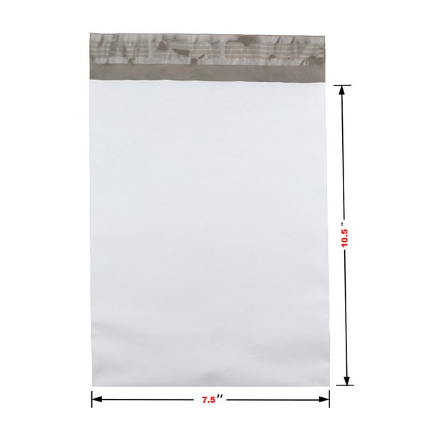 Poly Mailers 7.5x10.5 inch/190*270mm 50 Bags Poly Mailers Envelopes Bags With Self-sealing Strip White jiffy