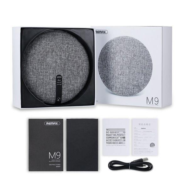 Remax RB-M9 HIFI Speakers Portable Bluetooth Speaker Bluetooth V4.1 Wireless Speaker Desktop Fabric Art Style Music Player Dual Stereo