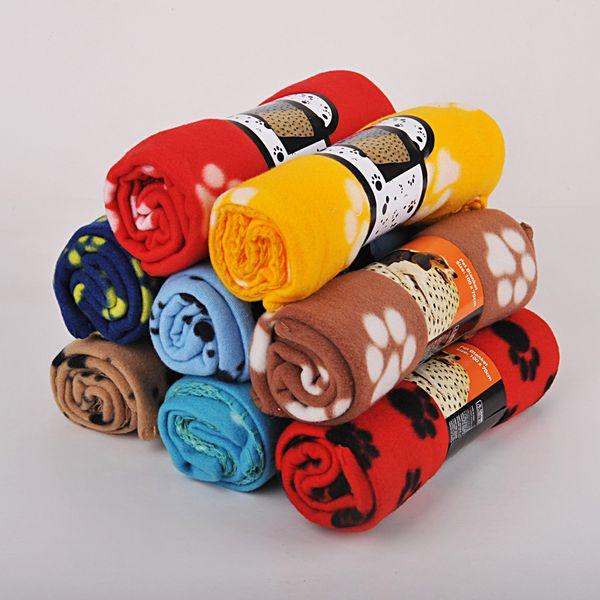 S M L Animais flanela macia Car Mat assento Paw Quente Imprimir Pet filhote de cachorro Cat Dog Bed Blanket Capa de Almofada Toalha AAA809