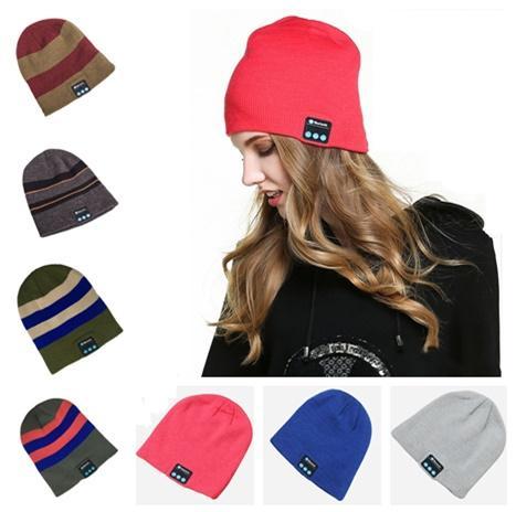 Bluetooth Hat Soft Warm Beanie Music Cap Wireless Hat Headphone Headset Speaker Microphone Handfree Bluetooth Skull Hats For Man Women
