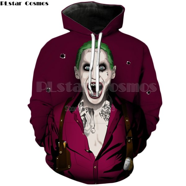PLstar Cosmos Drop verschiffen 2018 Neue stil Harajuku hoodies clown Sweatshirt Lustige Joker Gedruckt Männer Frauen Casual Trainingsanzüge