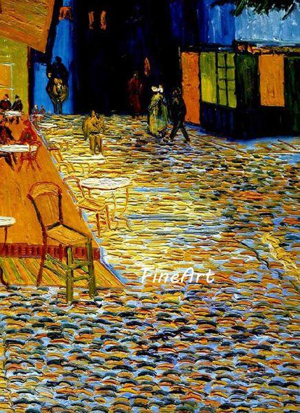 dipinti a mano olio su tela vincent van gogh famosi Cafe Terrace at Night riproduzione pittura decorativa decorazione della casa di arte della parete