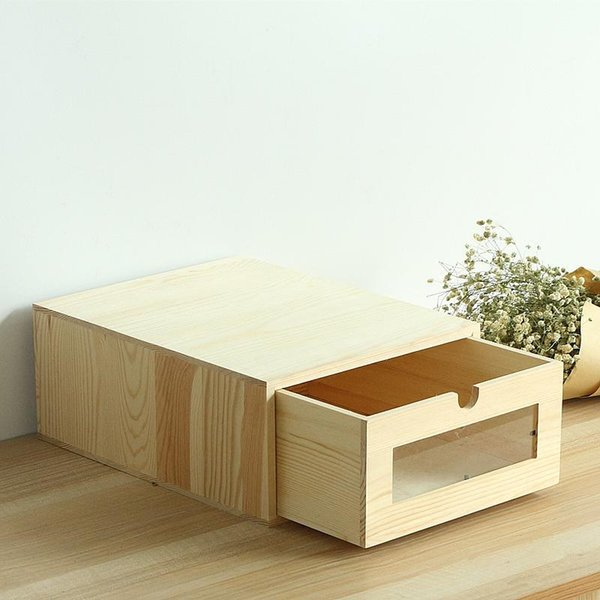 1PCS Wooden Desk Organizer A4 Paper Bill Office Stationary/Files Storage Box Eco-Friendly No Paint Wood Storage Drawers