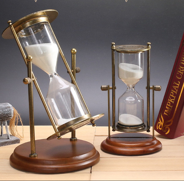 2018 1530minutes Glass Hourglass Wood Frame Sand Timer Clock Home