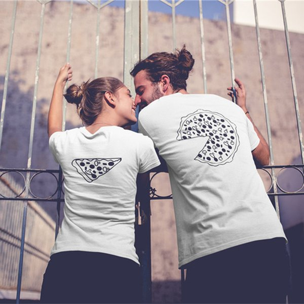 52f01b4718 Pizza Couple T Shirts For Lovers 2018 Casual Matching Couple Clothes Summer  Men And Women Valentine's