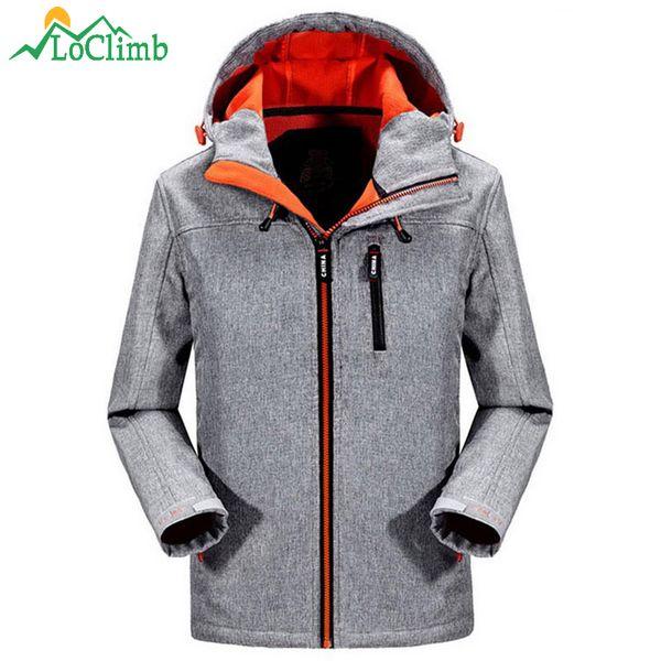 Großhandel LoClimb NEW Männer Softshell Wandern Jacke Männer Outdoor Sports Fleece Mantel Camping Klettern Trekking Wasserdichte Windjacke AM305 2019