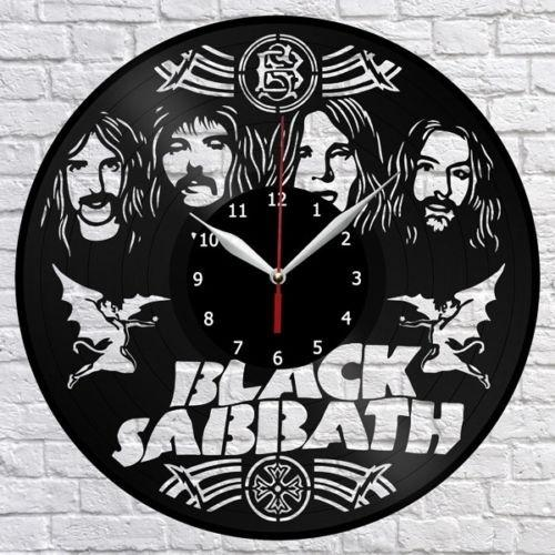 Black Sabbath Music Vinyl Record Wall Clock Fan Art Home Decor Handmade Art Personality Gift (Size: 12 inches, Color: Black)