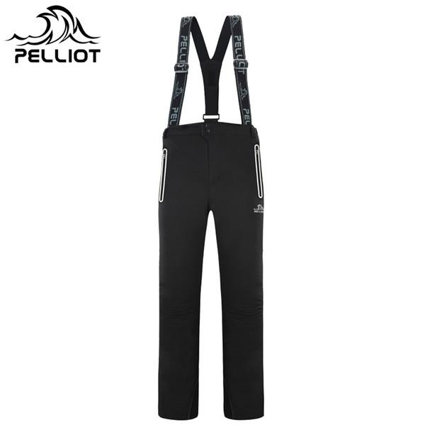 2018 PELLIOT Waterproof Winter Ski Pants Men Thicken Warm Snowboard Pants Ski Trousers with Belt Outdoor Sports Trousers High