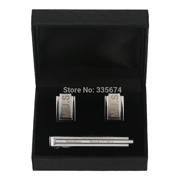2018 Personalized Wedding Cufflinks And Tie Clip Shirt Fashion Cuff links For Men's Brand Cuff buttons High Quality