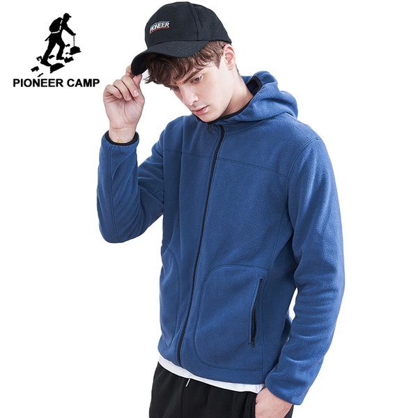 Pioneer Camp warm fleece jacket men brand clothing autumn winter coat male top quality hooded outerwear AJK802312